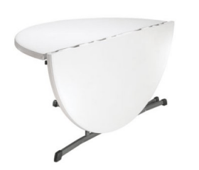 White Plastic Round Folding Tables