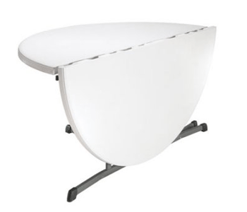 White Plastic Round Folding Tables